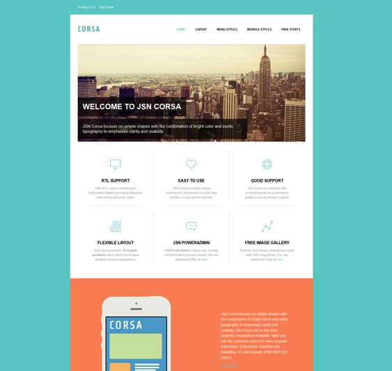 flat design joomla template