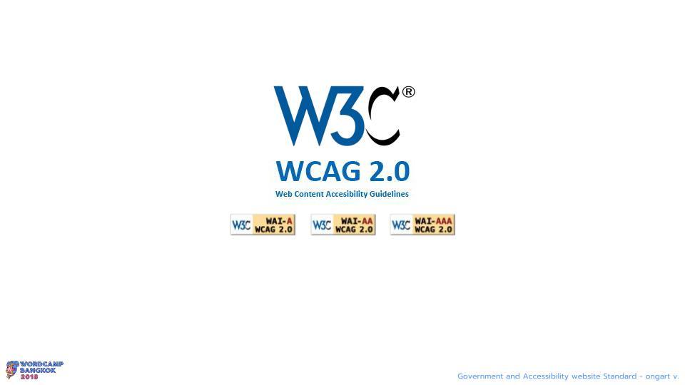 WCBKK 2018 - Gov Web and Accessibility Standard 9