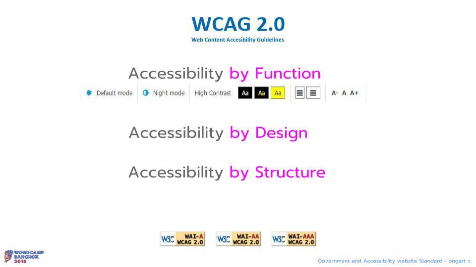 WCBKK 2018 - Gov Web and Accessibility Standard 10