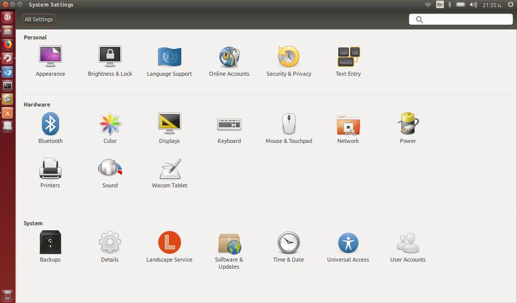 การตั้งค่าพื้นฐานทั่วไปง่ายๆผ่านไอค่อน setting ตัว OS มาพร้อม firefox